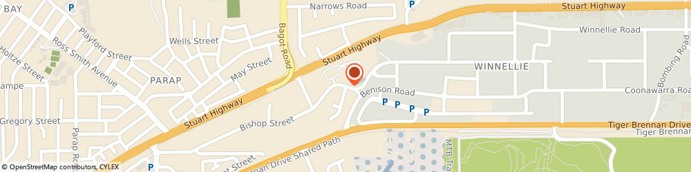 Route/map/directions to iStore Self Storage, 0821 Darwin, 104/ 28 Bishop St