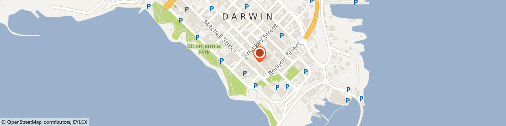 Route/map/directions to Hilton Darwin, 0800 Darwin, 32 Mitchell St