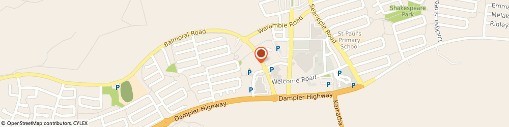 Route/map/directions to Home Hardware Karratha, 6714 Karratha, Unit 8 3813 Balmoral Rd