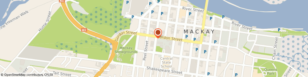 Route/map/directions to The Raine & Horne Group, 4740 Mackay, 77 Gordon Street
