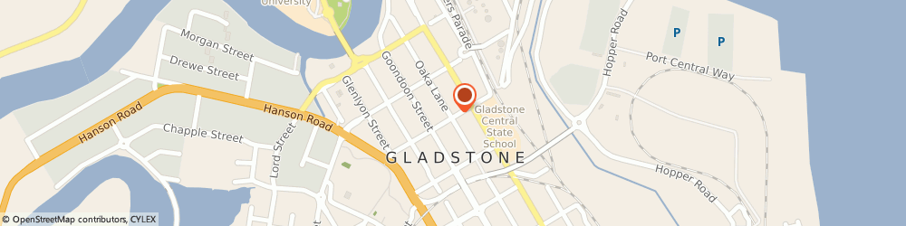 Route/map/directions to Harbour Lodge Motel, 4680 Gladstone, 16 Roseberry St