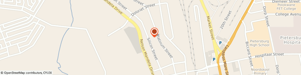 Route/map/directions to Mahlangu Electrical Contractors, 0700 Polokwane, 42 SILICON ST