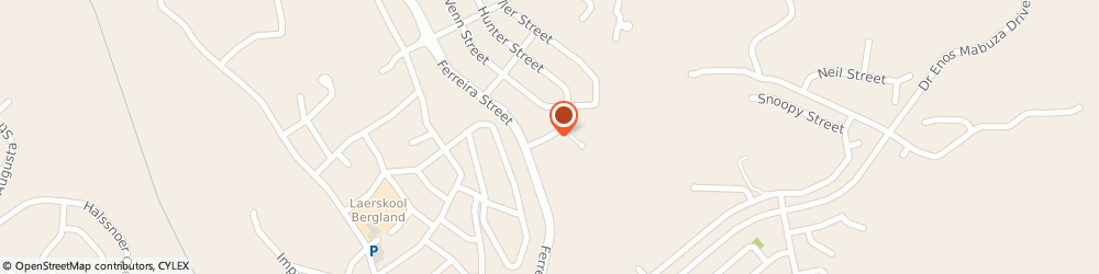 Route/map/directions to Jorn's Guest House, 1201 Nelspruit, 62 HUNTER ST