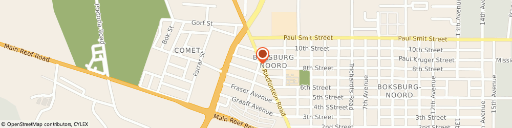 Route/map/directions to Swimming Pools, 1459 Boksburg, 23 Ceres Road