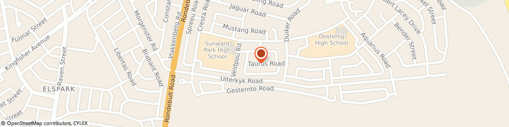 Route/map/directions to Web Five Media, 1459 Boksburg, 5 Taurus Road