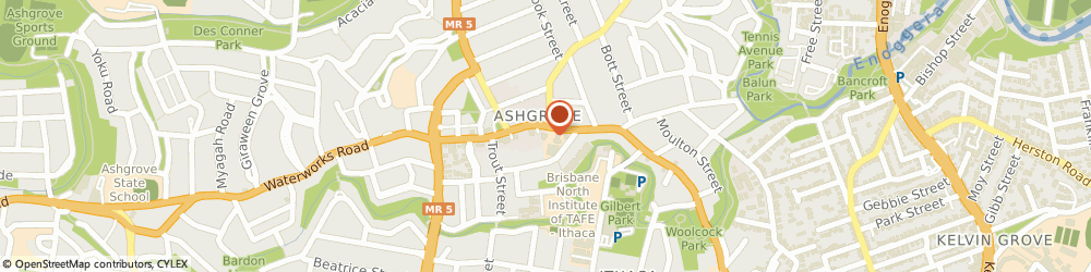 Route/map/directions to Pizza Hut Ashgrove, 4060 Ashgrove, Shop 2/214 Waterworks Rd