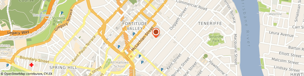 Route/map/directions to O'Donnell Legal, 4006 Fortitude Valley, 58 Morgan Street