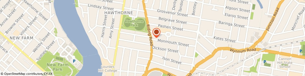 Route/map/directions to The Hawthorne Pantry, 4171 Hawthorne, 87 Riding Rd (Cnr Monmouth Street)