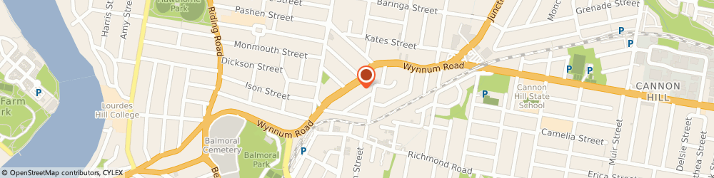 Route/map/directions to Eclipse Espresso, 4170 Morningside, 625 Wynnum Road