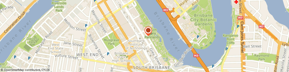 Route/map/directions to Westpac South Brisbane, 4101 South Brisbane, Shop 14, 164 Grey St