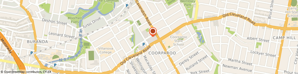 Route/map/directions to Coorparoo Shopping Centre, 4151 Coorparoo, Holdsworth St