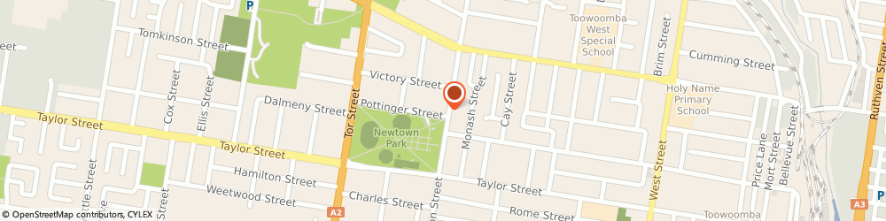 Route/map/directions to Reverend Grace Lampard, 4350 East Toowoomba, 127 Holberton St