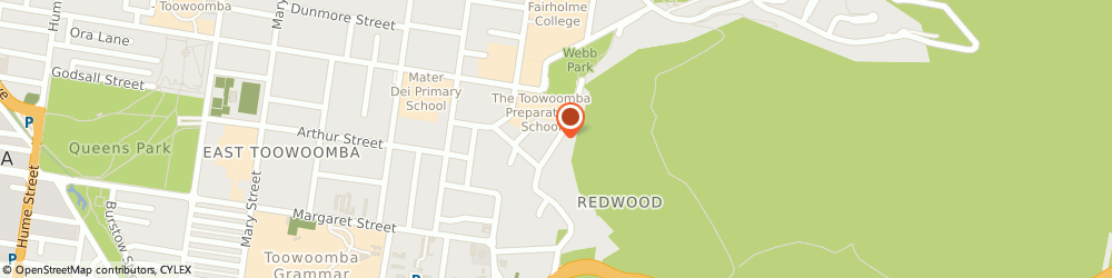 Route/map/directions to JUSTICES OF THE PEACE (Toowoomba QLD), 4350 East Toowoomba, STREET