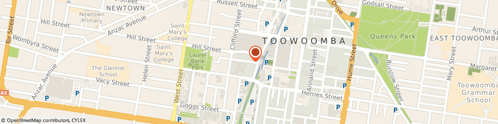 Route/map/directions to Goodyear Autocare Car Service Toowoomba, 4350 Toowoomba City, 19 Dent Street