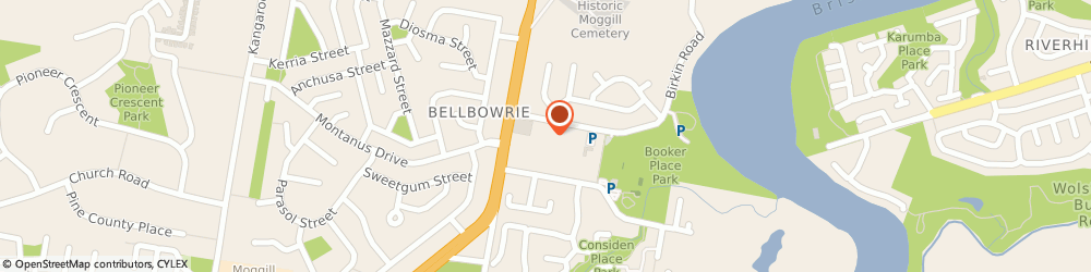 Route/map/directions to Pizza Hut Bellbowrie, 4070 Bellbowrie, 37 Birkin Rd