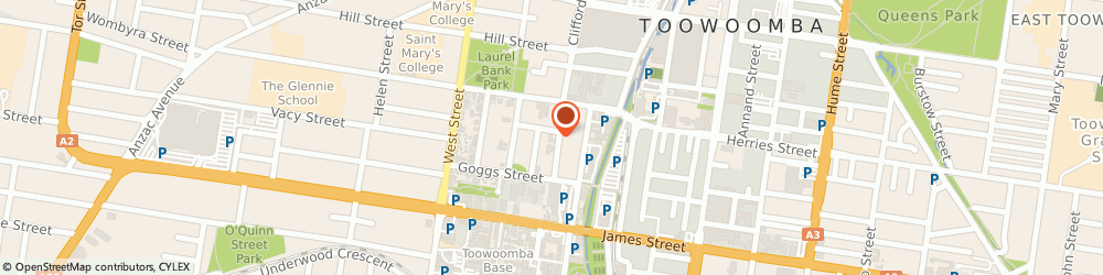 Route/map/directions to Tyrepower Toowoomba, 4350 Toowoomba City, 41-45 Clifford Street