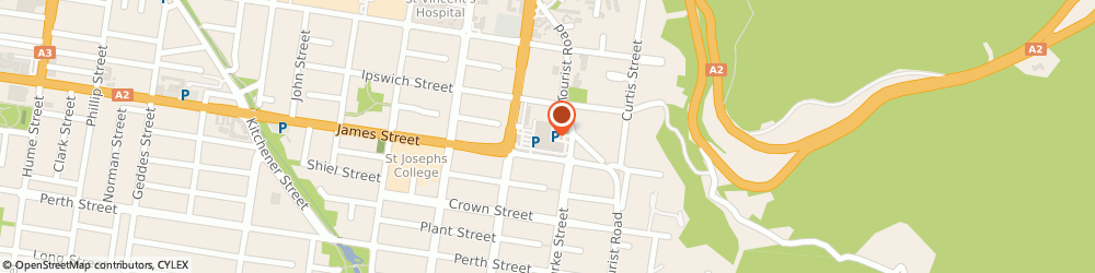 Route/map/directions to Caltex, 4350 Toowoomba, 11 James St