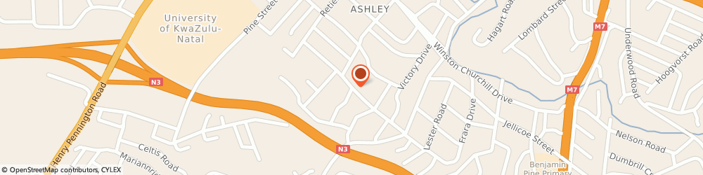Route/map/directions to Ashley School, 3610 Pinetown, 8 Fifth Ave