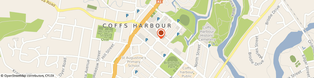 Route/map/directions to Angus & Robertson Bookworld (Coffs Harbour Nsw), 2450 Coffs Harbour, CITY CENTRE MALL