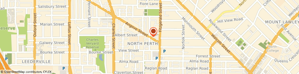 Route/map/directions to Ariel Wings Pty Ltd (trading as hampl), 6006 North Perth, 60 Angove St