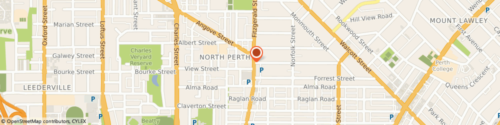Route/map/directions to Westpac North Perth, 6006 North Perth, 437 Fitzgerald St