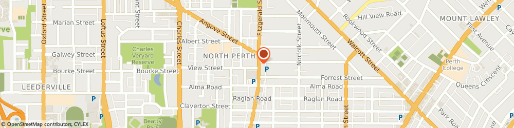 Route/map/directions to Bendigo Bank North Perth Community Bank, 6006 North Perth, 431 Fitzgerald Street