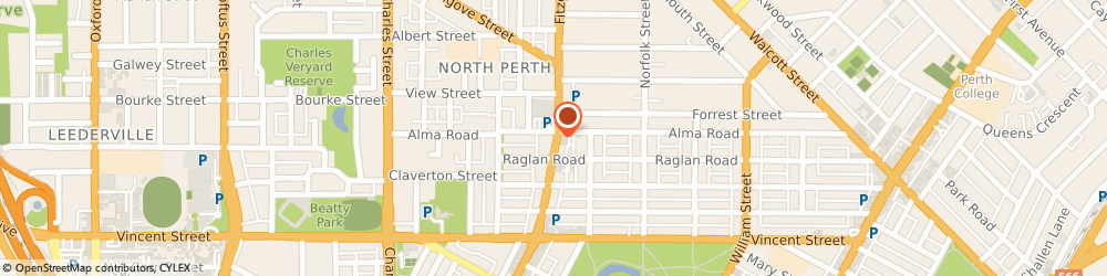 Route/map/directions to Nail - Topia, 6006 North Perth, 383 Fitzgerald St