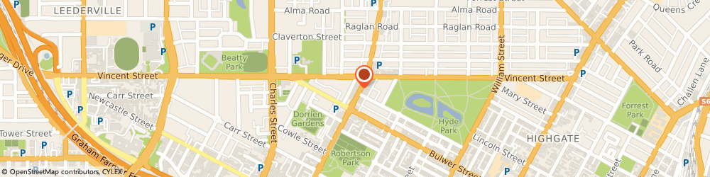 Route/map/directions to Csl Limited (Commonwealth Serum Laboratory) - Csl, 6000 Perth, 293-297 Fitzgerald Street