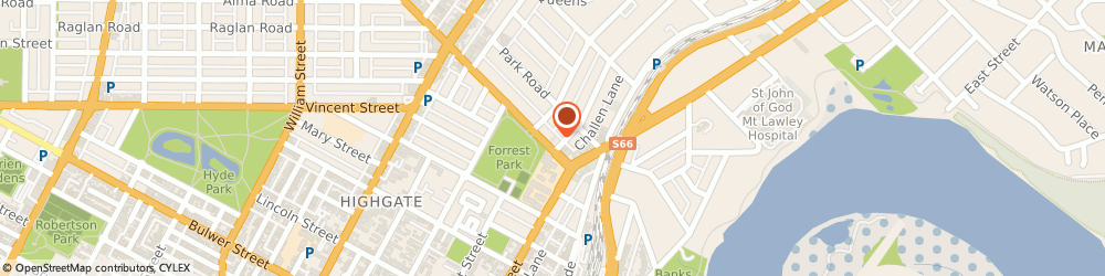 Route/map/directions to Dr Pepall Linda, 6050 Mount Lawley, 8 Walcott St
