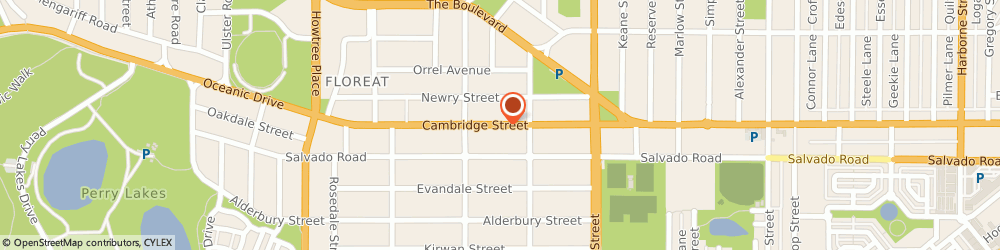 Route/map/directions to Select Travel Service, 6014 Floreat, Cambridge Street