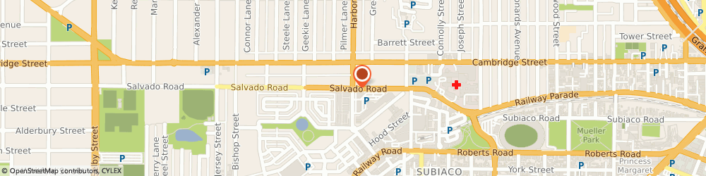 Route/map/directions to St John Of God Hospital Subiaco, 6008 Subiaco, 12 SALVADO ROAD