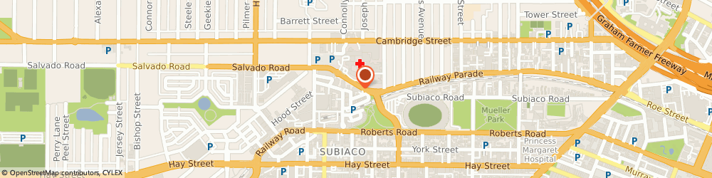 Route/map/directions to Perth ENT Centre, 6008 Subiaco, 6/1 Salvado Road
