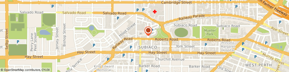 Route/map/directions to Helloworld Travel Subiaco, 6008 Subiaco, 20 - 38 Subiaco Square Road
