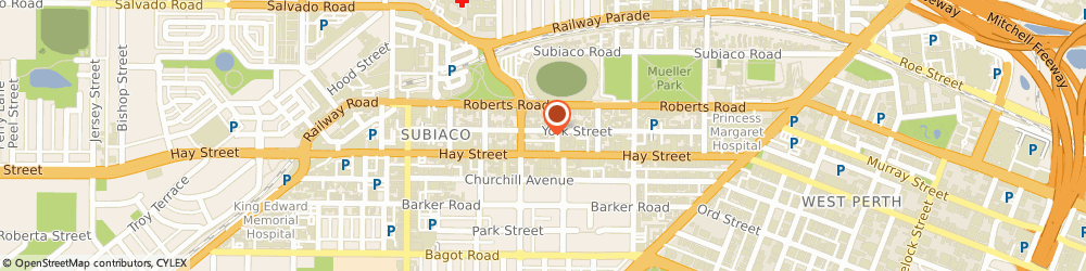 Route/map/directions to Children Surgery, 6008 Subiaco, 177 York Street