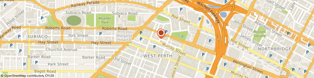 Route/map/directions to Mcgees Property, 6005 West Perth, Level 2; 26 Clive Street