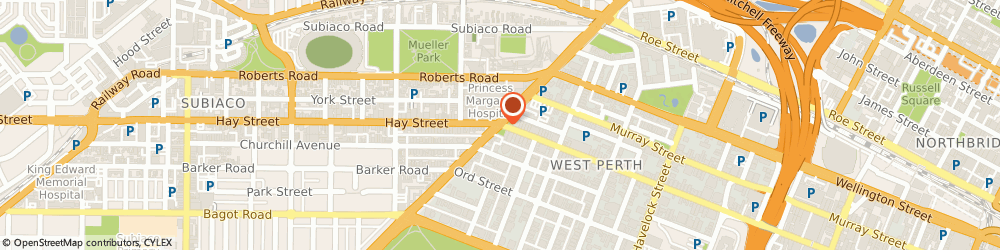 Route/map/directions to Be Media, 6005 West Perth, 1/1122 Hay St