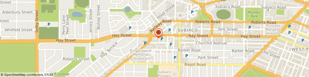 Route/map/directions to Precision Oncology, 6008 Subiaco, 541 Hay Street