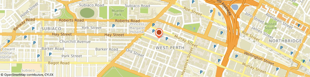Route/map/directions to Lowther Physiotherapy & Podiatry, 6005 West Perth, 1298 Hay St