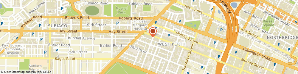 Route/map/directions to Geoff Ninnes Fong & Partners Pty Ltd, 6005 West Perth, 1321 Hay Street