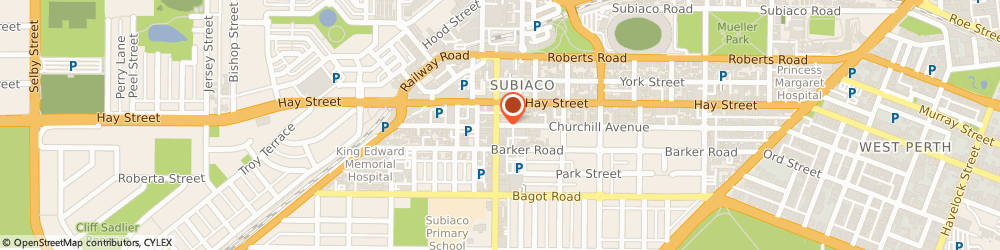 Route/map/directions to Jane Stoltze Nutrition, 6008 Perth, 30 Churchill Ave