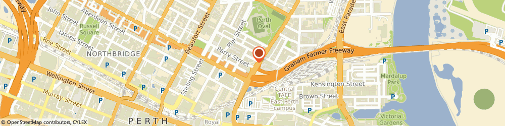 Route/map/directions to ANZ ATM, 6004 East Perth, 157 Lord St