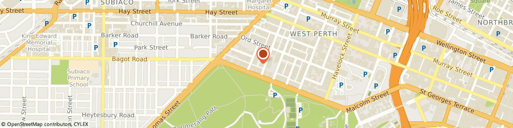 Route/map/directions to Tribe Perth Kings Park, 6005 West Perth, 4 Walker Avenue