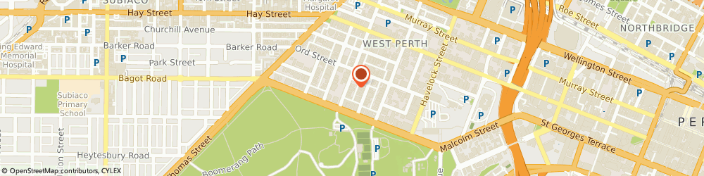 Route/map/directions to Thomason & Associates, 6005 West Perth, LEVEL 1, 10 OUTRAM STREET