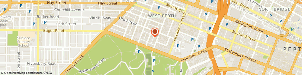 Route/map/directions to AMP, 6005 West Perth, 16 Altona St