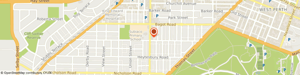 Route/map/directions to Rokeby Podiatry, 6008 Subiaco, 136B Rokeby Road