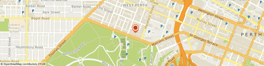 Route/map/directions to St John Of God Health Care (West Perth Wa), 6005 West Perth, 12 Kings Park Road