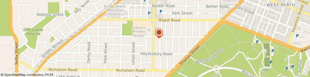 Route/map/directions to Perth Radiological Clinic, 6008 Subiaco, 127 Hamersley Road