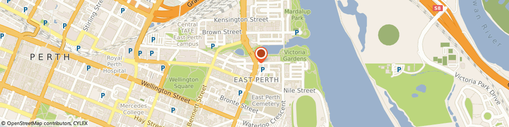 Route/map/directions to Back on Form Massage Therapy, 6004 Perth, 129 Royal St