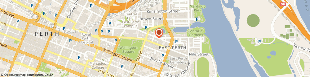 Route/map/directions to Mediserve Nursing Agency Pty Ltd, 6004 East Perth, 1/109 Royal Street