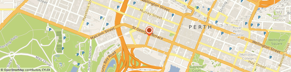 Route/map/directions to Perth City Chiropractic, 6000 Perth, Level 14 197 St Georges Tce